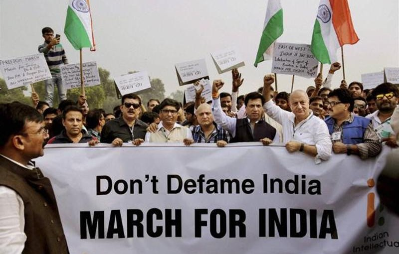 Anupam Kher at march for India