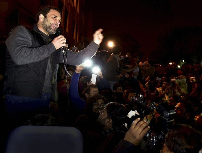 Rahul Gandhi addresses at JNU
