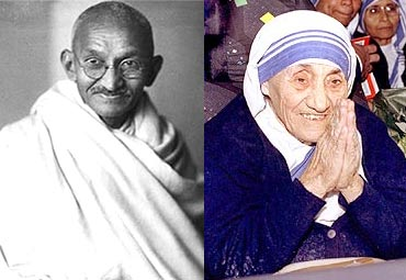 Gandhi & Mother Teresa