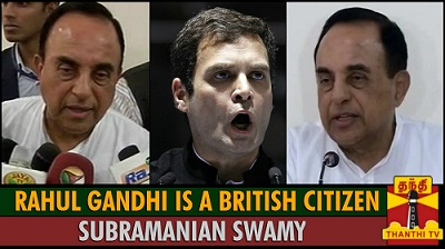 Rahul Gandhi is a british citizen