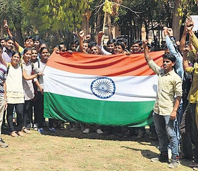 Out of town students only want to fly the tricolor