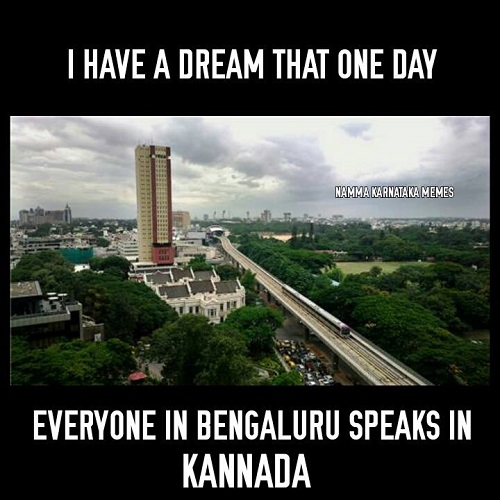 Bengaluru speaks in Kannada