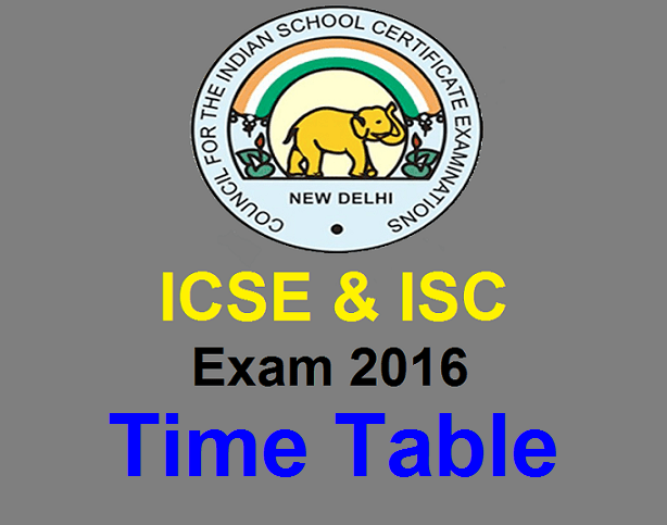 ISC and ICSE exam results in 2016