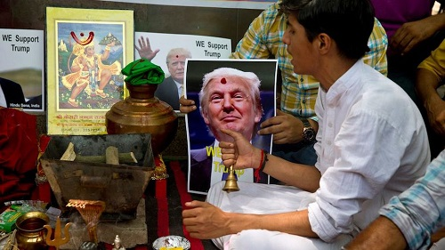 Indian Groups pray for Donald Trump