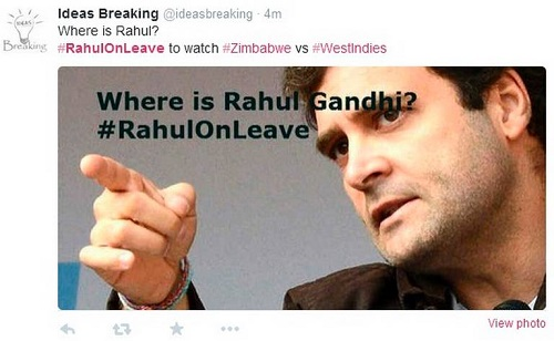 Where Is Rahul Going On Vacation Now