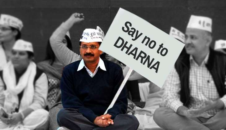 Arvind Bans Dharnas Outside His Home