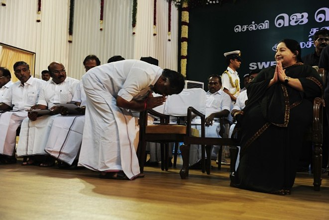 Jayalalitha - Men Prostrate Before Her, An Amazing Sight...