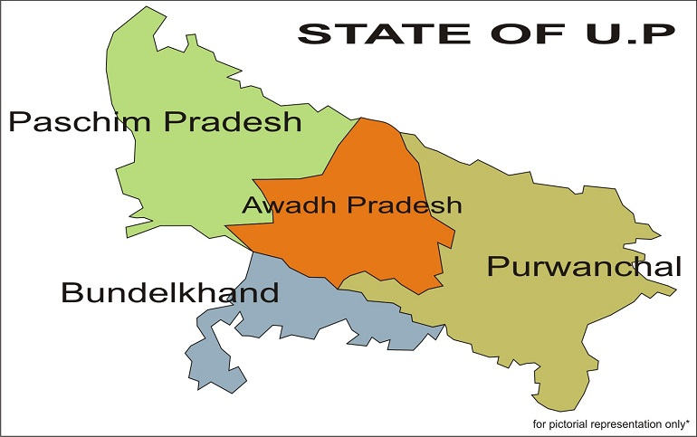 Uttar Pradesh to Be Divided Into 3 States...