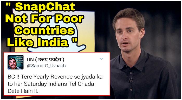 India - Teach Snapchat A Lesson, Remove Their App... ASAP