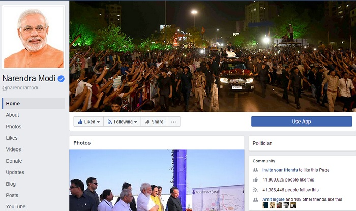 PM Modi Facebook Fans - 14 To 42 Million, To 100 Million Soon...