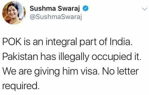 "MA'AM - Superwoman, God, No Words To Describe You - ""Sushma Swaraj, Our Own Videsh Mantri"""