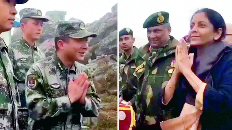 "Chinese Soldiers, China Go Gaga Over Our Lady Defense Minister ""Namaste""..."