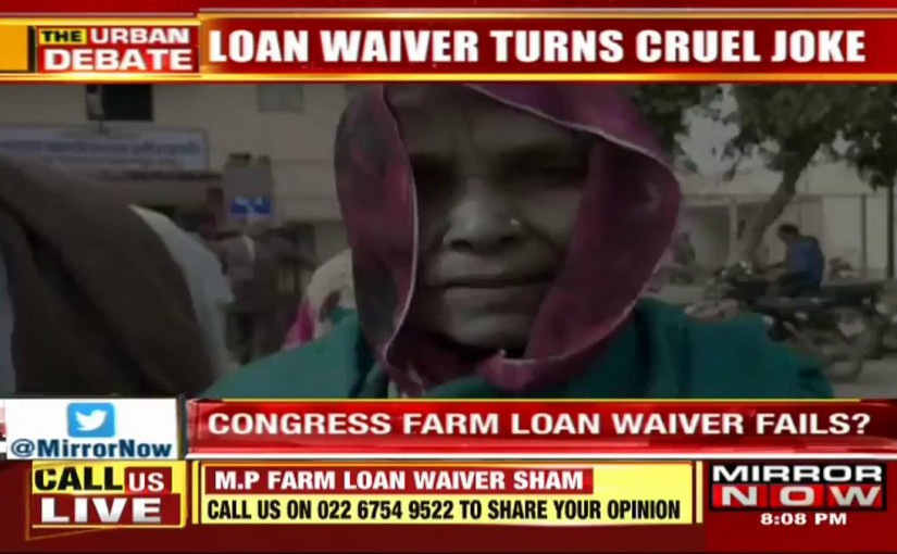 'CONGRESS CHEATS FARMER - LOAN WAIVER OF ONLY RS. 13