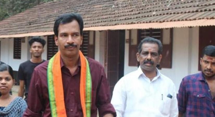 Bjp candidate prakash babu in sabrimala, ourvoice, werIndia
