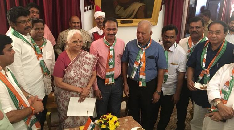 Congress MLAs met the Governor of Goa Mridula Sinha, ourvoice, werIndia