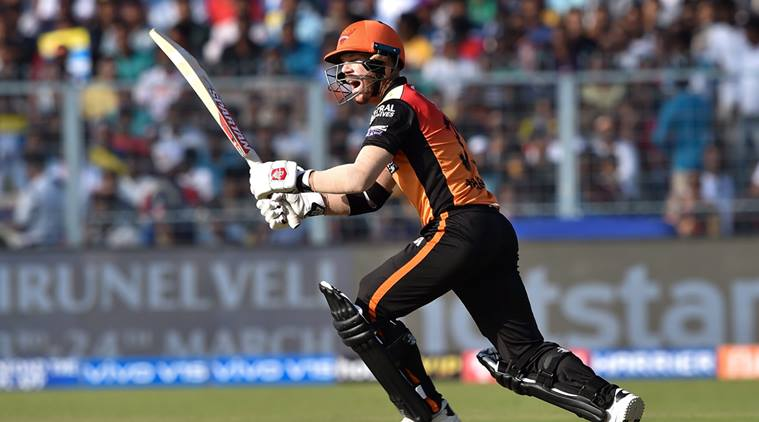 Kolkata: Sunrisers Hyderabad batsman David Warner plays a shot during IPL-2019 cricket match against Kolkata Knight Riders, at Eden Garden in Kolkata, Sunday, March 24, 2019. (PTI Photo/Swapan Mahapatra)(PTI3_24_2019_000068A)