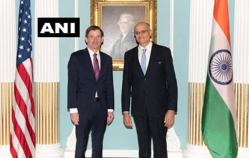 Foreign Secretary Vijay Gokhale meets with US Under Secretary of state for political affairs