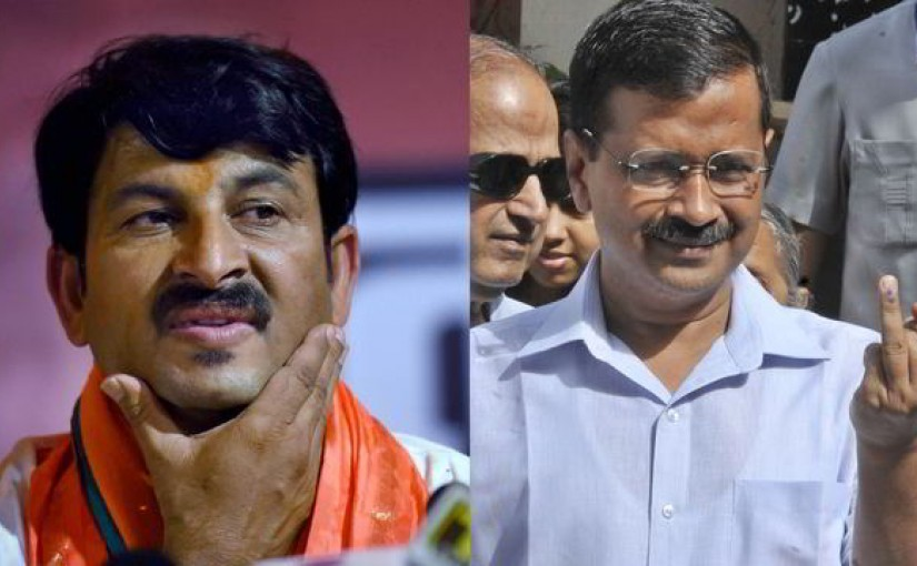 Kejriwal, slams, Manoj Tiwari ,our voice, we r india