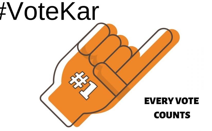 Modi started campaign vote kar,ourvoice, werIndia