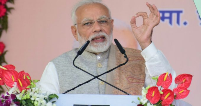 PM Modi takes a jibe at SP-BSP alliance in UP with 'SARAB' acronym
