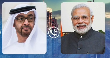 Pm modi telephonic conversation with crown prince of abu dhabi our voice, werindia