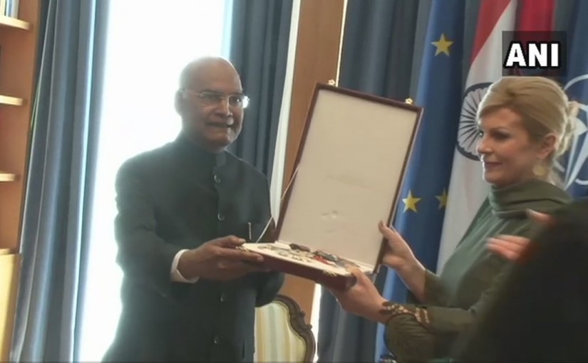 President Ram Nath Kovind conferred with the 'Grand Order of King Tomislav with Sash and Grand Star' by Croatian President, ourvoice, werIndia