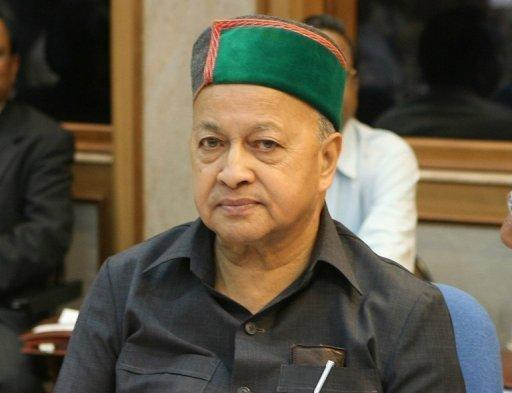 The Himachal Pradesh chief minster Virbhadra Singh pictured at a meeting of chief ministers in New Delhi in September 2006. Singh, the minister for micro, small and medium industries, resigned Tuesday after a state court charged him with corruption, in a further embarrassment for Prime Minister Manmohan Singh's scandal-tainted government.