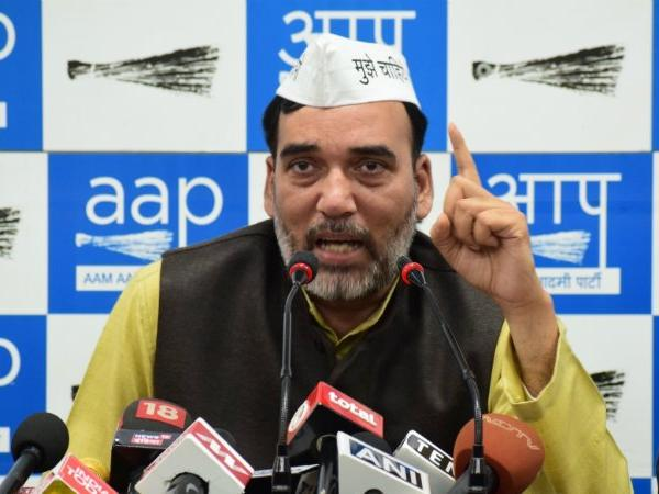 Aap leader gopal rai spoke against cogress, ourvoice, werIndia