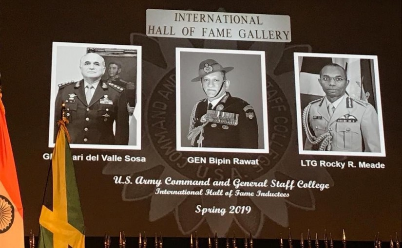 Gen Bipin rawat is now in America's hall of fem, ourvoice, werIndia