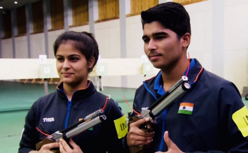 Issf world cup manu bhaahkar and Saurabh chaudhari, ourvoice, werIndia