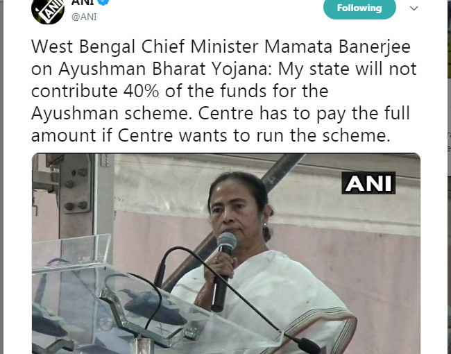 Mamata Banerjee Pulled Out West Bengal From Ayushman Scheme Of Central Government