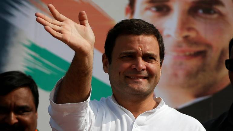 """In Election 2019 EC Asks Rahul Gandhi To Say Few Words On """"NYAAY"""" Banner"""