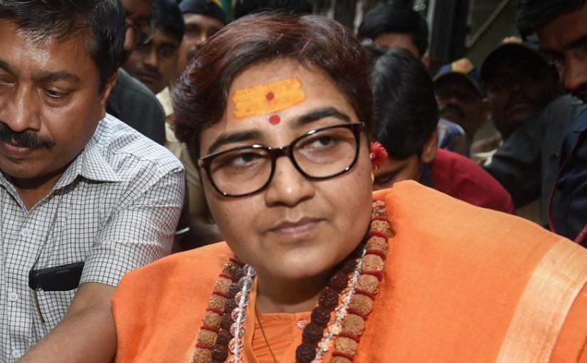 Sadhvi Pragya apologies for remark on Hemant Karkare, takes her statement back