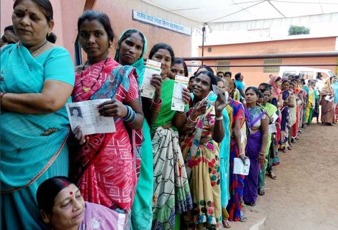 Slow but peaceful polling across 11 states so far; EVM glitches in Bengal, Assam