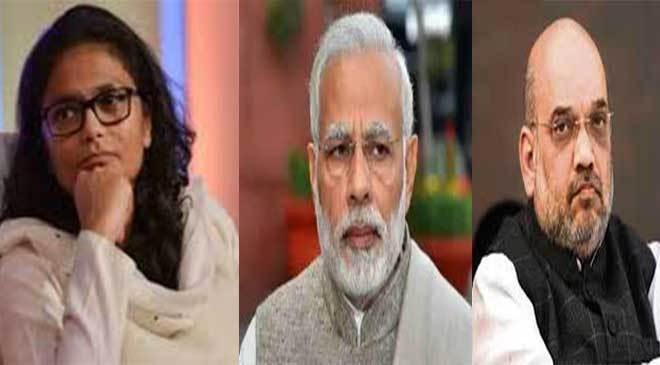 Sushmita dev congress leader complain against pm modi and amit sah, ourvoice, werIndia