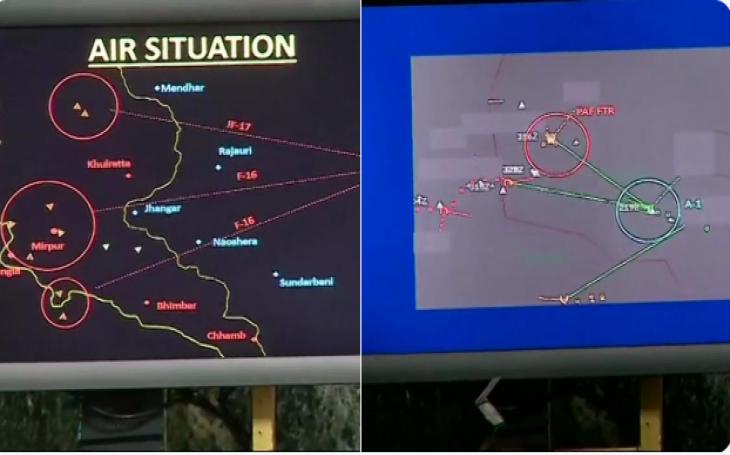 IAF shows radar images of Pak F-16 being shot down