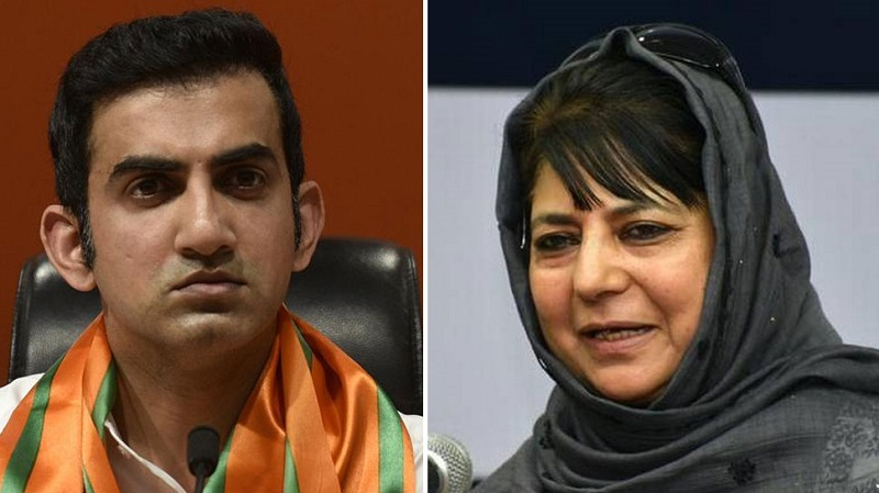 india is not a stain like you gautam gambhir and mehbooba mufti get into twitter spat