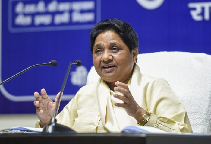 Mayawati accusses Congress of aiding the BJP in defeating the SP-BSP alliance