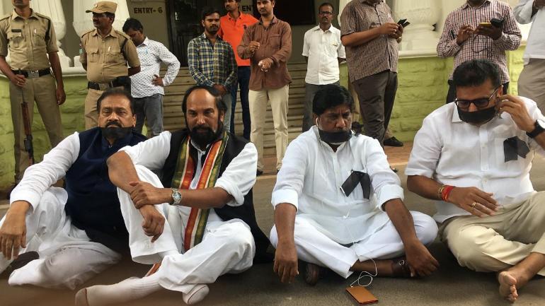 12 Congress MLA's seek a merger of TRS in Telangana