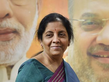 Nirmala Sitharaman appointed as the Finance Minister of India at a time of economic stress