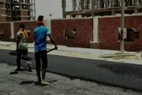 Plastic Waste Used In Construction Of Road In Lucknow India
