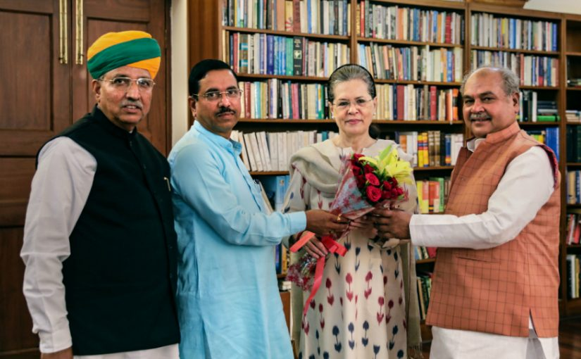 Prahlad Joshi meets Sonia Gandhi to discuss hiccup-free run of the first parliamentary session