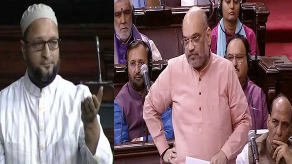 Owaisi Squabble With Amit Shah During Discussions In National Investigation Amendment Bill