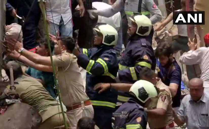 100 Years Old Constructed Building Collapses In Dongri, South Mumbai