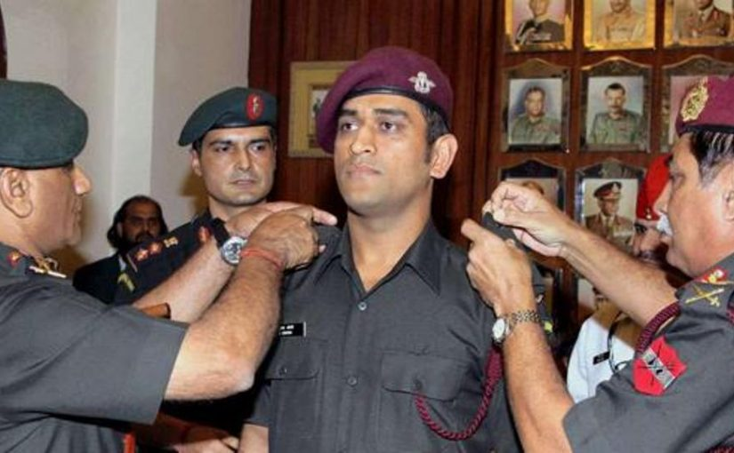 Indian Cricketer MS Dhoni Requests Indian Army For Parachute Training