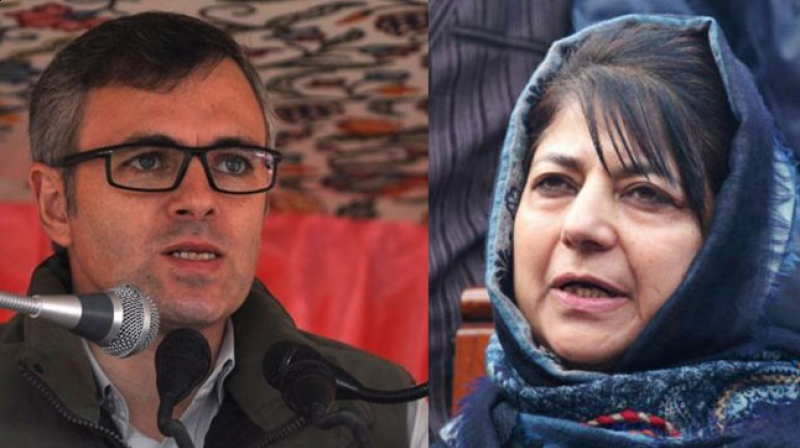 Mehbooba Mufti and Omar Abdullah fight under custody