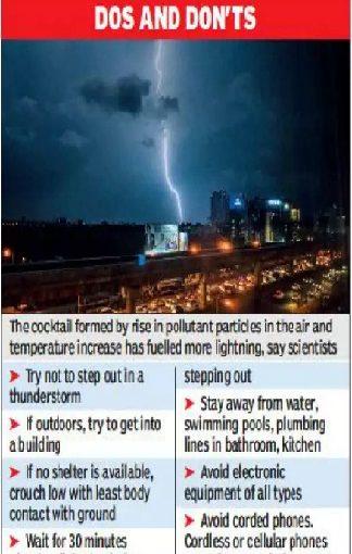 Kolkata City Fatal Lightning Strikes With Pollution Increases