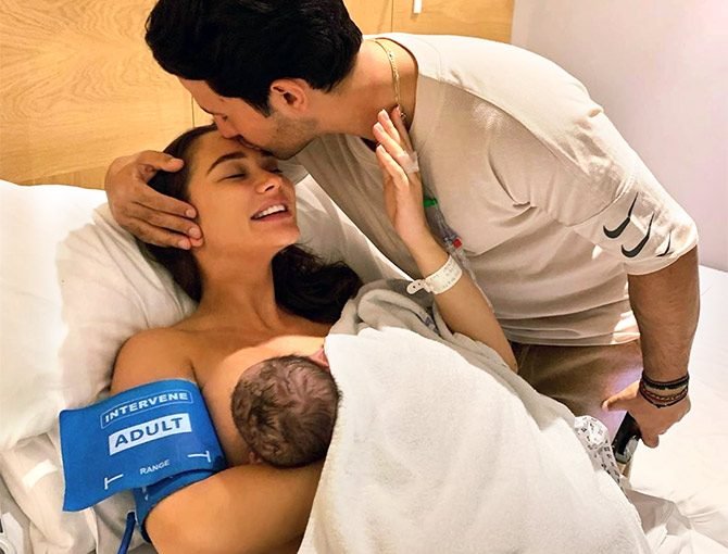 Amy Jackson And Her Fiancee George Panayiotou Blessed By Baby Boy