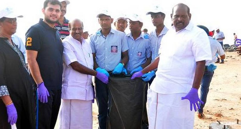 Centre's Swachh-Nirmal Tat Abhiyaan scheme: Beach Cleaning In Puducherry
