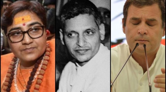 MP SADHVI PRAGYA CALLED GODSE A DESHBHAKT. IT IS HER VIEW - INDIA'S LEADERS NEED TO GROW UP